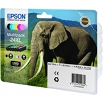 T2438 -  Epson no. 24XL MULTI-PACK Høj Kapacitet originale  blækpatroner 6 stk.