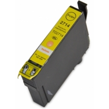 Epson T2714 27XL Yellow fabriksny XL kompatibel high cap. blækpatron 17ml. - erstatter (T2714)