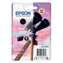 Epson 502 sort blækpatron 4,6ml original C13T02V14010 Epson