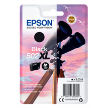 Epson 502XL sort blækpatron 9,2ml original C13T02W14010 Epson