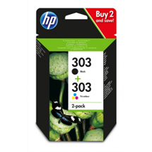 Multipack! HP 303 BK/CMY blækpatron 8ml original HP - Hewlett Packard