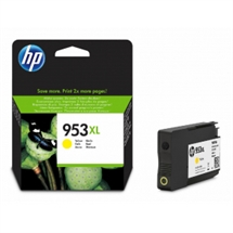 HP 953XL gul blækpatron 20ml original HP F6U18AE#BGX HP - Hewlett Packard
