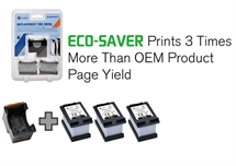 HP 302XL ECO-SAVER SORT: Printhoved + 3 stk. Sort Refill blækpatron a. 17ml. 1.500 sider - Erstatter 3 x HP302XL HP F6U68AE