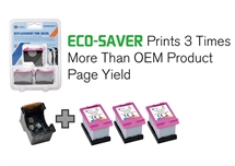 HP 302XL ECO-SAVER COLOR: Printhoved + 3 stk. Color Refill blækpatron a. 17ml. 1.500 sider - Erstatter 3 x HP 302XL HP F6U67AE