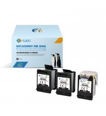 HP 304XL 3-PACK G&G ECO-SAVER SORT: Printhoved + 3 stk. Sort Refill blækpatroner a. 17ml. (51ml.) ca. 1.500 sider