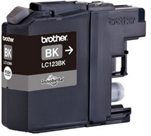 Brother LC123BK sort blækpatron - Fabriksny kompatibel High Cap. m.chip - ca. 600 sider v/5%