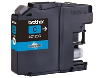 Brother LC123 Cyan blækpatron - Fabriksny kompatibel High Cap. m/chip - ca. 600 sider v/5%