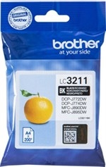 Brother LC3211 sort blækpatron 200 sider original LC3211BK